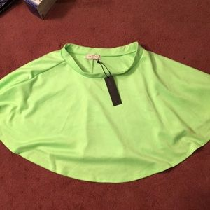 Made By Johnny Skirts - Neon green skater skirt